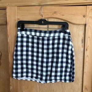 Forever 21 Gingham Mini Skirt